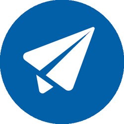 round circle icon paper plane