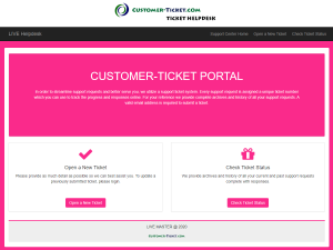 helpdesk color theme pink